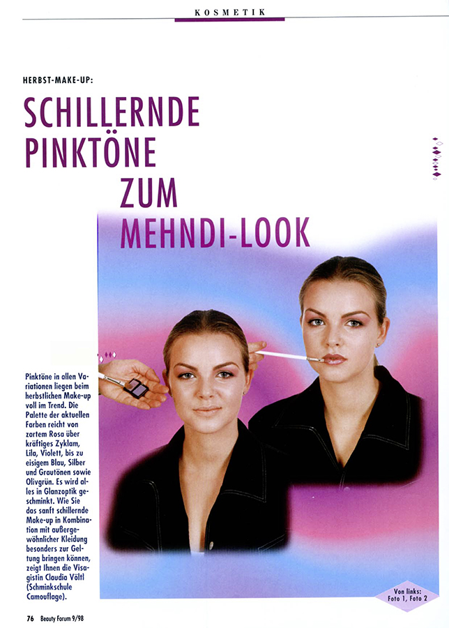 Herbst Make-up, Mehndi-Look -S1